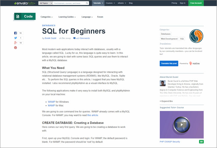 tutsplus sql for beginners 1